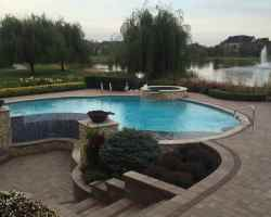 Stone Surround with Pool